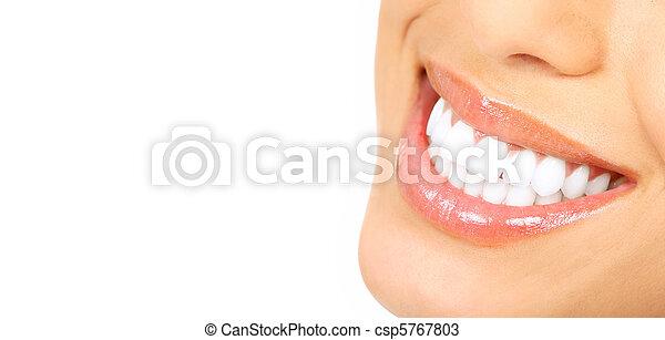 mulher, dentes - csp5767803