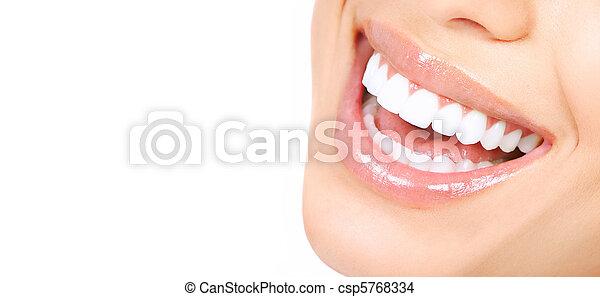 mulher, dentes - csp5768334