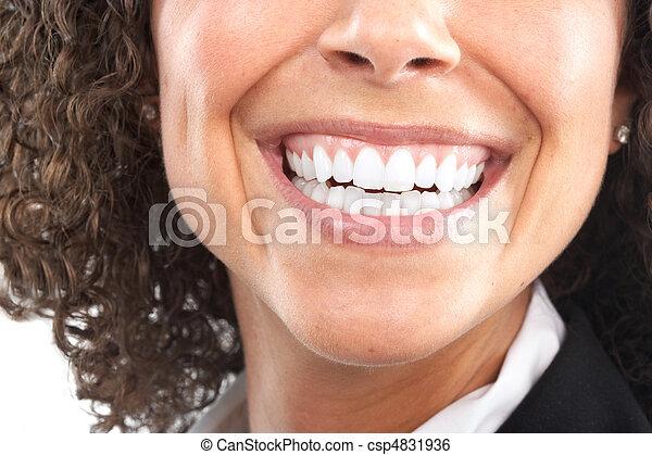 mulher, dentes - csp4831936