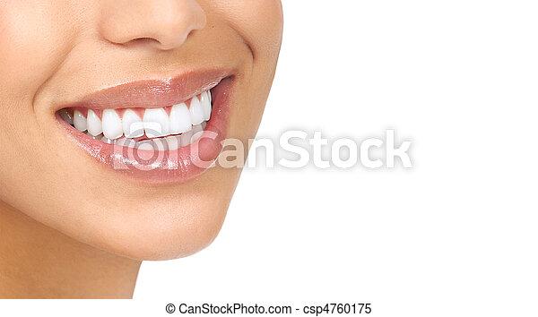 mulher, dentes - csp4760175