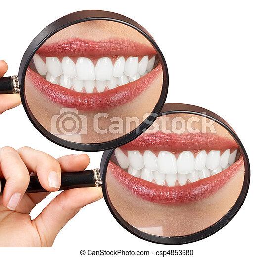 mulher, dentes - csp4853680