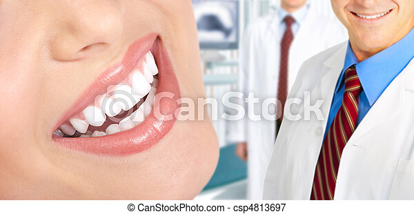mulher, dentes - csp4813697