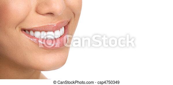 mulher, dentes - csp4750349