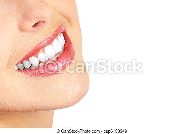 mulher, dentes - csp6133349
