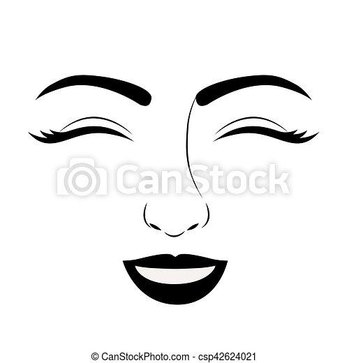 Mulher Desenho Isolado Rosto Mulher Femininas Pessoas Theme