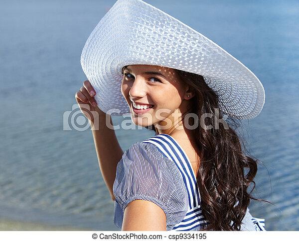 mulher, deslumbrante - csp9334195