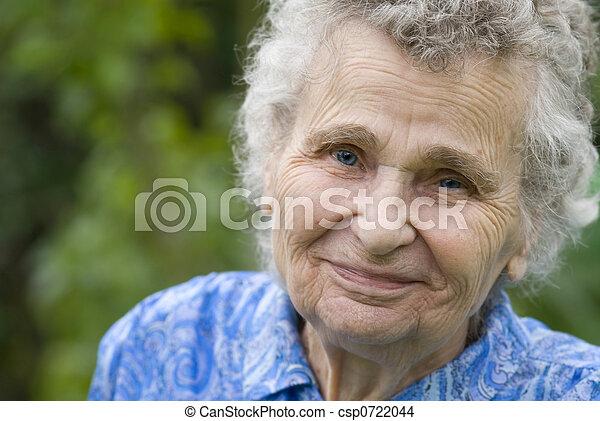 mulher, idoso - csp0722044