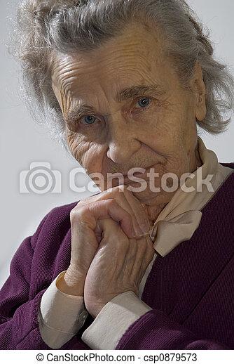 mulher, idoso - csp0879573