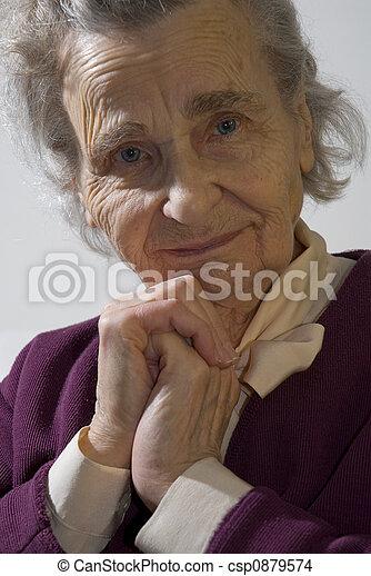 mulher, idoso - csp0879574