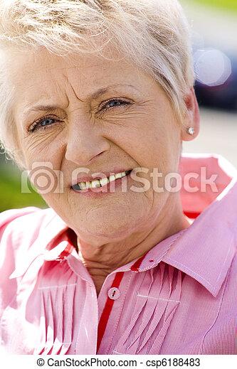 mulher, idoso - csp6188483
