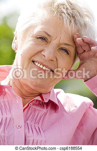 mulher, idoso - csp6188554