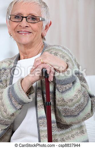 mulher, idoso - csp8837944