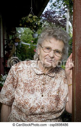 mulher, idoso - csp0698486