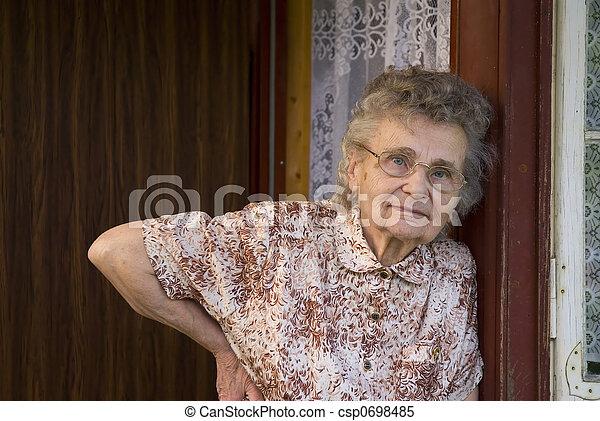 mulher, idoso - csp0698485