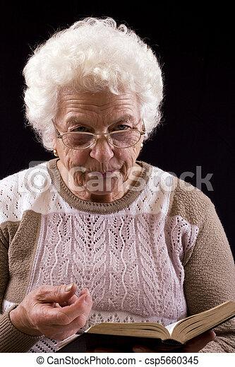 mulher, idoso - csp5660345