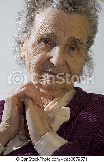 mulher, idoso - csp0879571