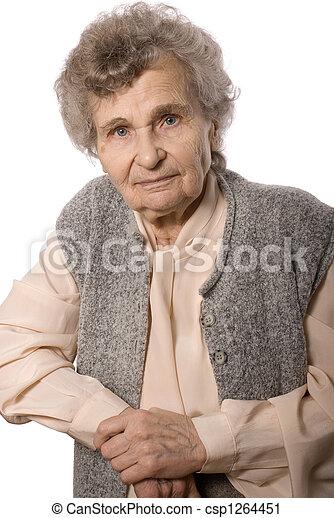 mulher, idoso - csp1264451