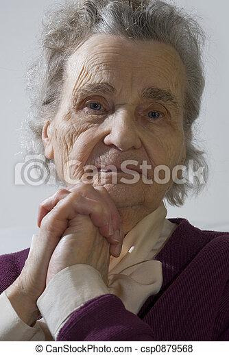 mulher, idoso - csp0879568