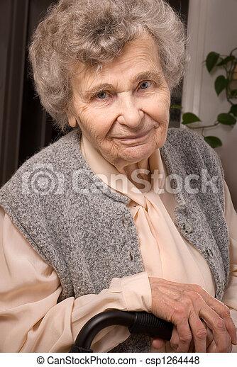 mulher, idoso - csp1264448