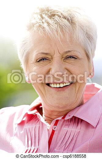 mulher, idoso - csp6188558