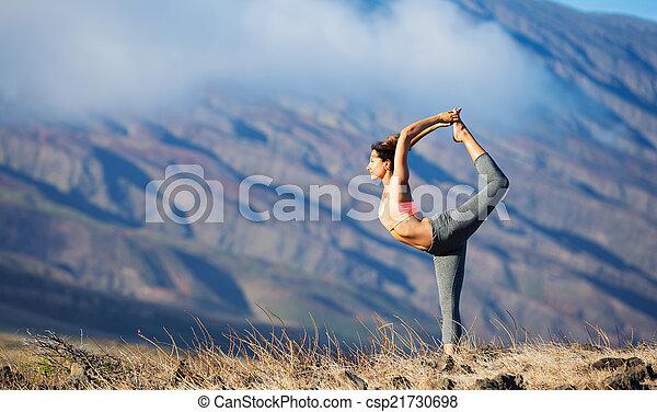 mulher, ioga - csp21730698