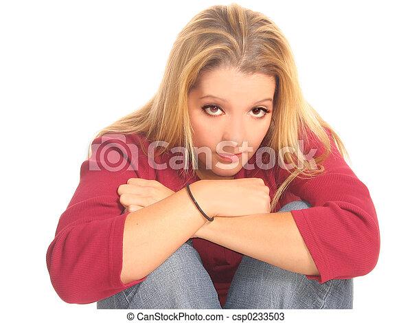 mulher, jovem, bonito - csp0233503