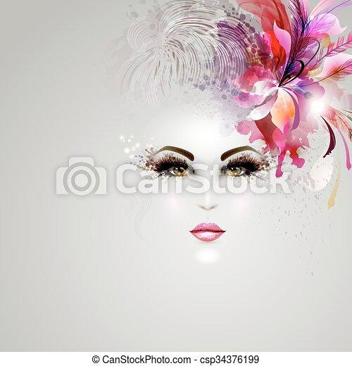 mulher, jovem - csp34376199
