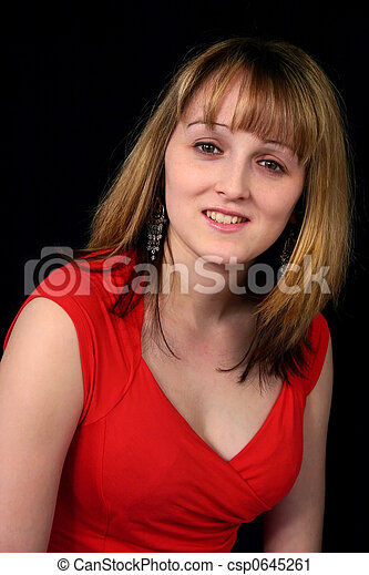 mulher, jovem - csp0645261