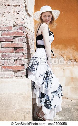 mulher, moda, jovem - csp2709058