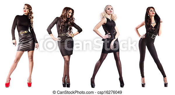 mulher, moda, maquilagem - csp16276049