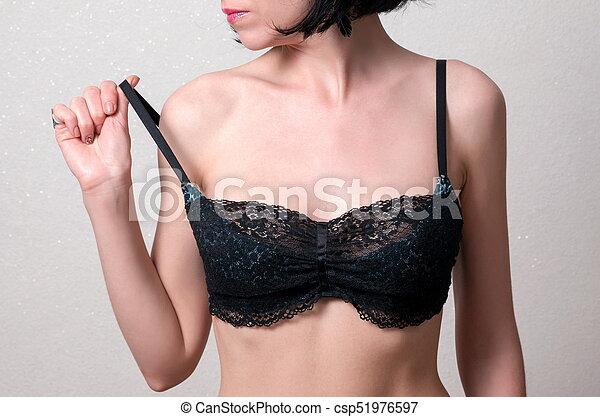 mulher, moda, soutien - csp51976597