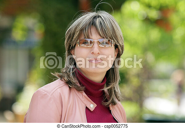 mulher, modernos - csp0052775