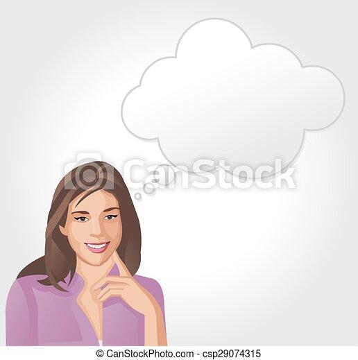 mulher pensando - csp29074315