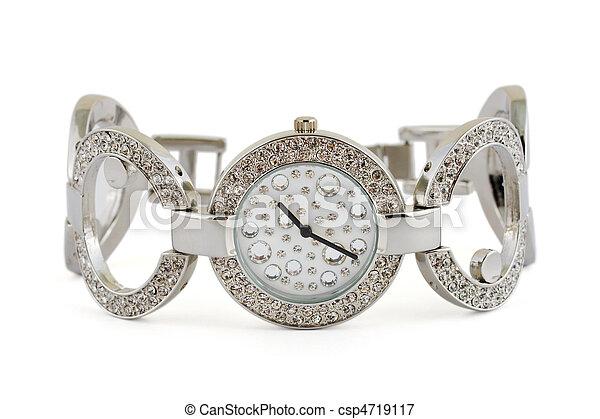 mulher, relógio, luxo - csp4719117