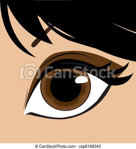 mulher, vetorial, eye. - csp6169343