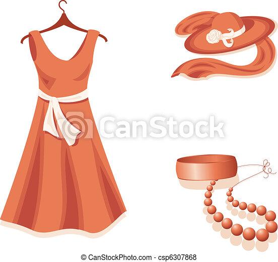 mulher, wardrobe. - csp6307868