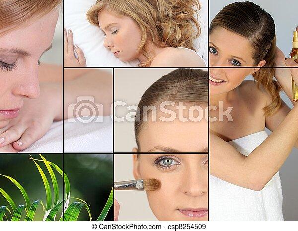 mulheres, beleza, relaxamento - csp8254509