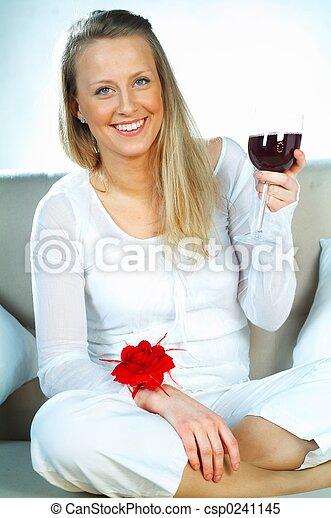mulheres, vinho - csp0241145