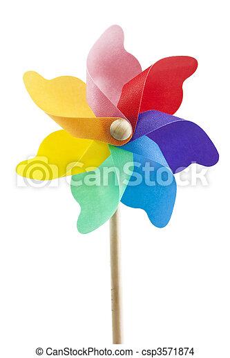 mulino vento, singolo, giocattolo - csp3571874