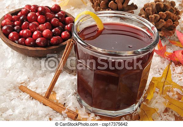 Mulled cranberry juice - csp17375642