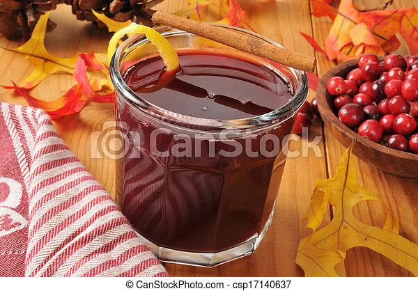 Mulled cranberry juice - csp17140637