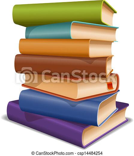 Multi colored books - csp14484254