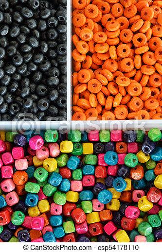 Multi colour beads - csp54178110