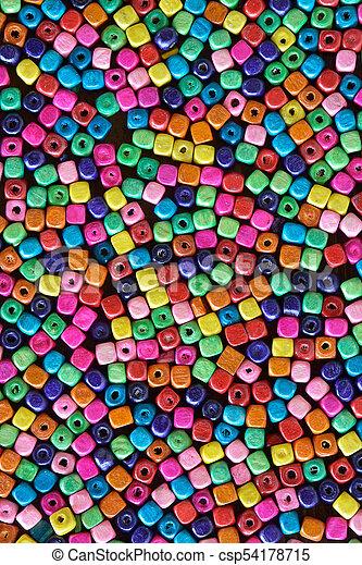 Multi colour beads - csp54178715