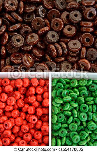 Multi colour beads - csp54178005