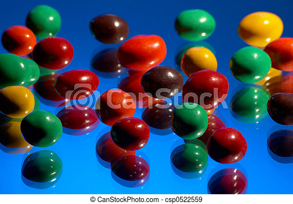 multi-coloured sweets - csp0522559