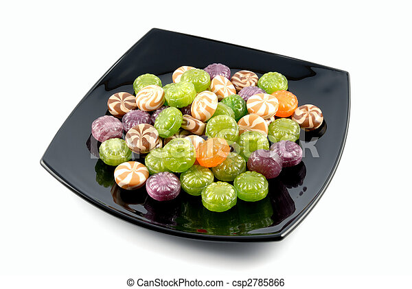 Multi-coloured sweets sugar candies - csp2785866