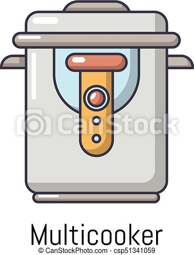 Multi cooker icon, cartoon style - csp51341059