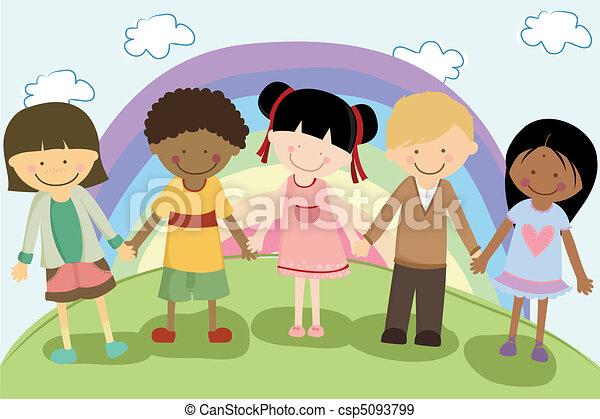 Multi ethnic children - csp5093799