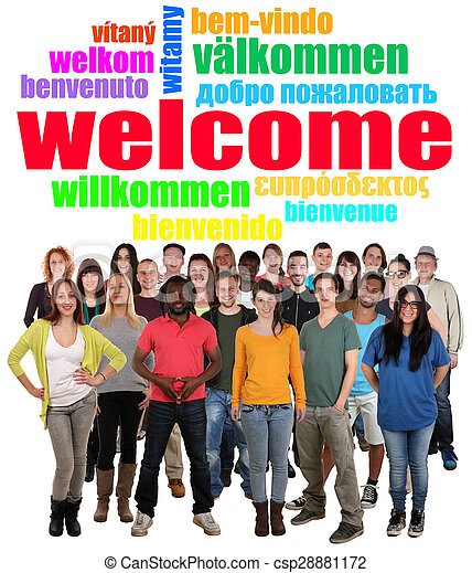 multi ethnic group of smiling young people saying welcome clip art shaking hands images clip art shaking hands pics
